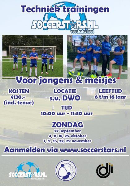 Soccerstars techniektraining najaar 2020