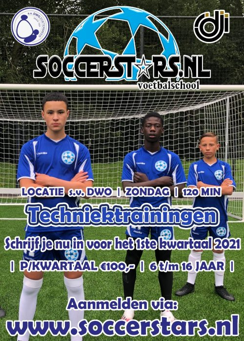 veld trainingen flyer